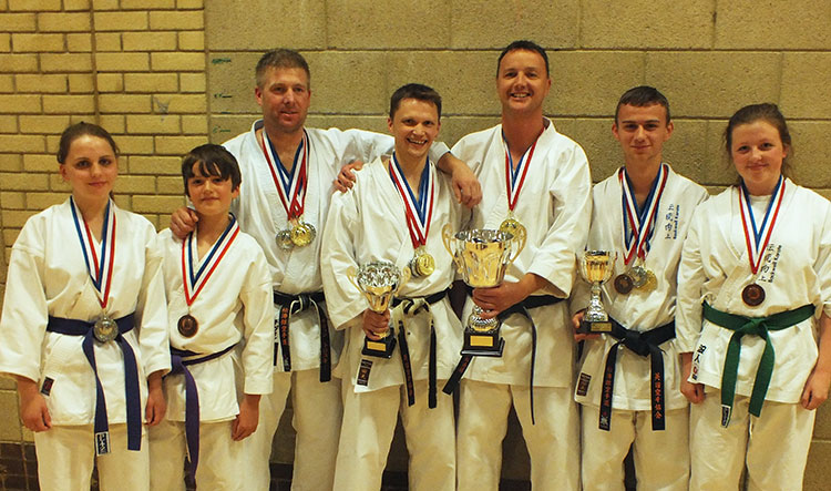 Backwell Karate's medallists at the 2013 KUGB SOuthern Region Championships