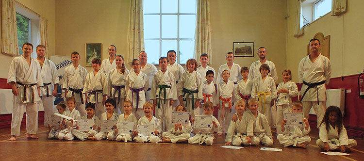 Bushido Warriors - our youngest martial artists receive their certificates
