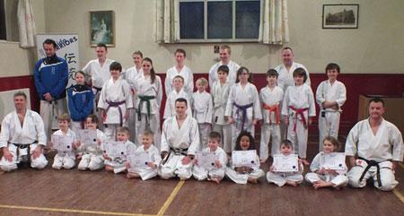 Certificate presentation last night at the Bushido Warriors class